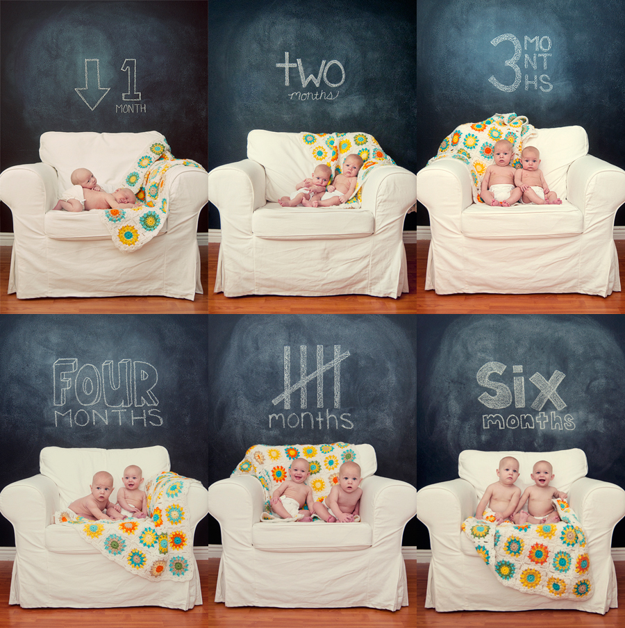 monthly progression, baby time lapse, time lapse, los angeles baby photographer